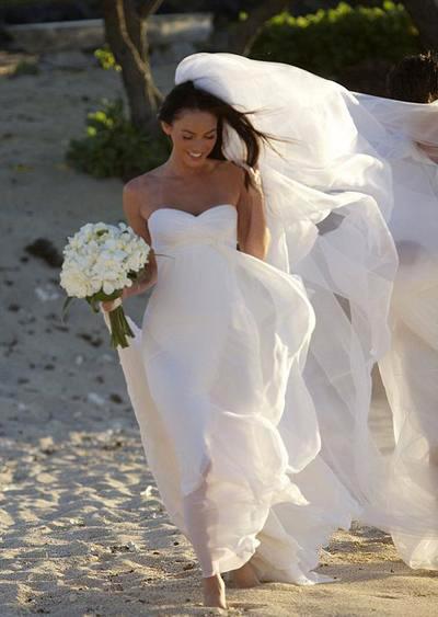 Свадебные наряды знаменитых невест (фото) Меган Фокс (Megan Fox)