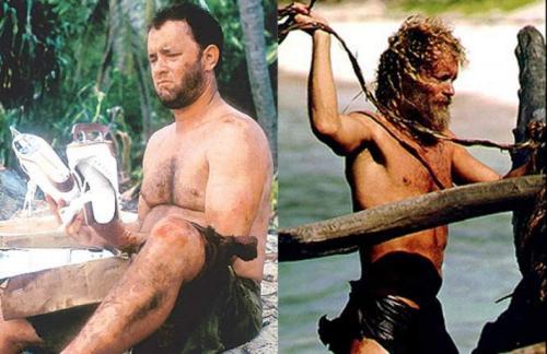 Для съемок в этом фильме Хэнксу пришлось сначала поправиться, чтобы стать похожим на мужчину средних лет. А для превращения в жителя необитаемого острова Тому Хэнксу нужно было похудеть.
