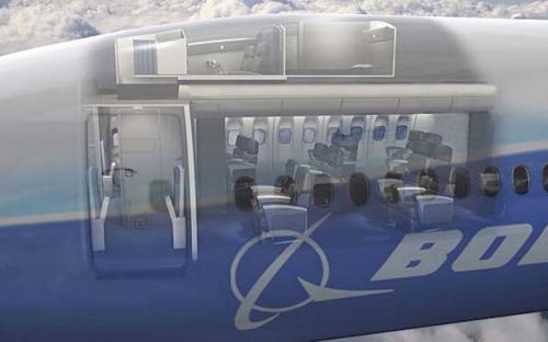 Схематическое расположение каюты экипажа над основным пассажирским салоном.