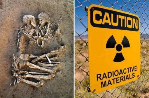3. Радиоактивные скелеты из Индии Обнаружение древних радиоактивных скелетов ставит в тупик. Кстати, старинные индийские хроники рассказывают о катастрофе, уничтожившей миллионы людей. Но ответа на эту загадку нет. Кто поддерживал древние междоусобицы между городами-государствами тысячи лет назад? В хрониках упоминаются небесные колесницы и смертельное оружие, но совсем не понятно, кто ими управлял. Были ли они богами или инопланетянами? Тем не менее, на найденных скелетах остались радиоактивные частицы.