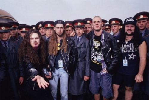 Группа Pantera на фестивале Monsters Of Rock. Тушино, 1991 г.