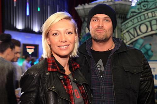 Телеведущая Аврора с мужем Алексеем.
