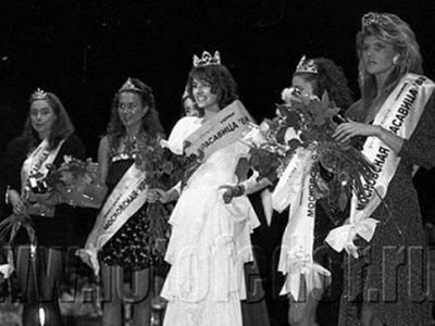 Финалистки и победительница первого в СССР конкурса красоты, 1988 год: