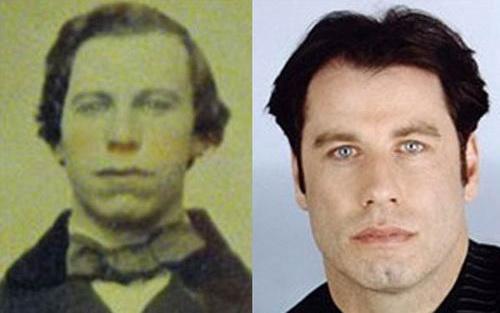 Джон Траволта (John Travolta) и его двойник, живший в 1860 году