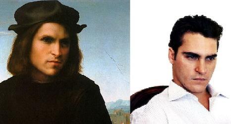 Хоакин Феникс (Joaquin Phoenix) / портрет молодого человека, выставленный в Лувре