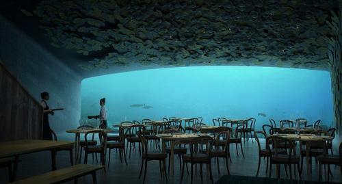 Норвежская архитектурная компания Snøhetta, работающая над проектом отеля Svart, также разрабатывает проект первого в Европе подводного ресторана.