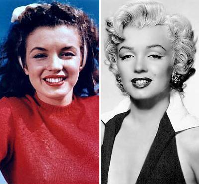 мэрилин монро до и после фото