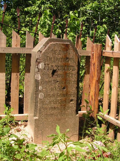 Похоронен витебский великан на местном кладбище близ села Костюки.