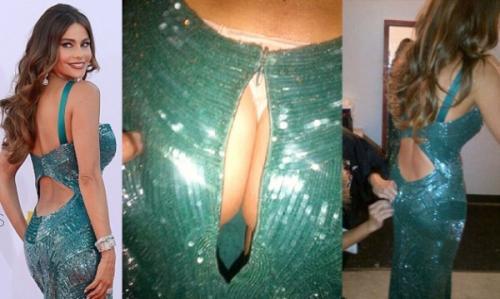 София Вергара выбрала слишком узкое платье для церемонии Эмми 2012.