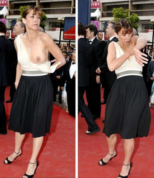 На Каннском кинофестивале в 2005 году Софи Марсо подвела соскользнувшая бретелька, которая обнажила грудь.