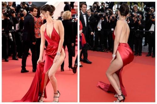 Белла Хадид очень рисковала, выбирая это платье для Каннского фестиваля 2016.