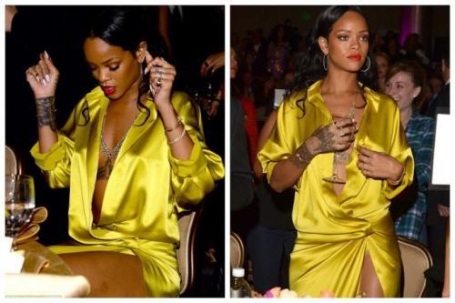 Очень неудобное платье Рианны.