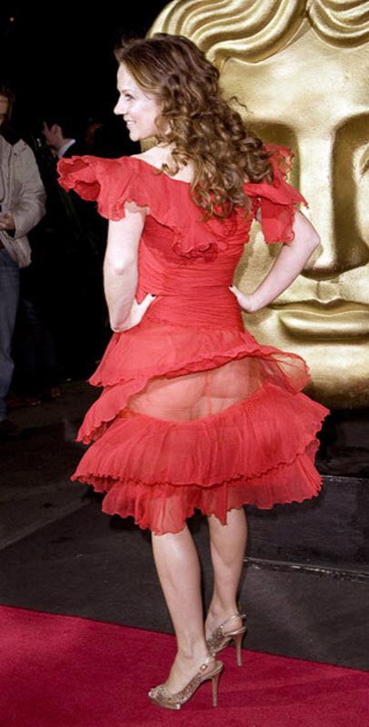 Джерри Холливел показала все на вручении детских наград «BAFTA» в Лондоне. Покраснела не только дорожка!