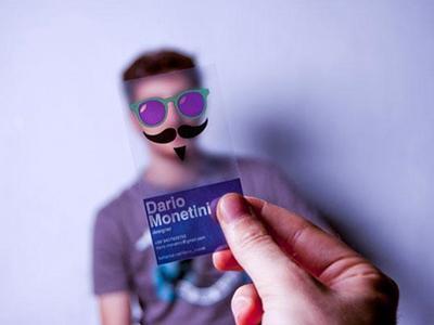 Визитка-маска для дизайнера: