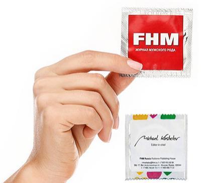 Визитка-презерватив главного редактора журнала FHM: