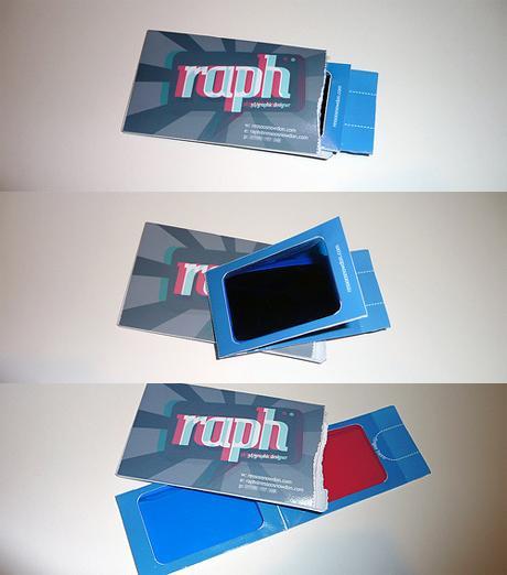 3D визитка 3D дизайнера. Очки внутри.