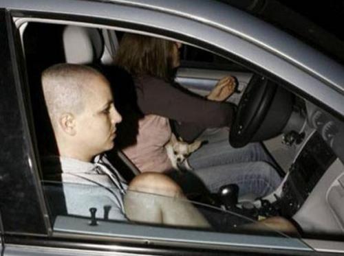 Выписавшись из реабилитационной клиники, она остановилась на заправочной станции по пути домой. Папарацци окружили ее автомобиль, в надежде сфотографировать поп-звезду с обритой головой.