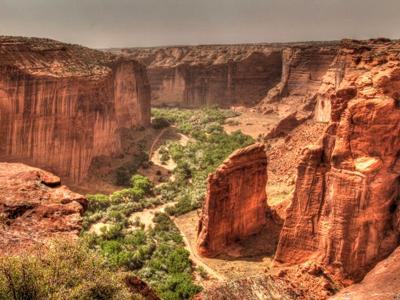 Каньон де Шелли (Canyon De Chelly), Аризона, США.