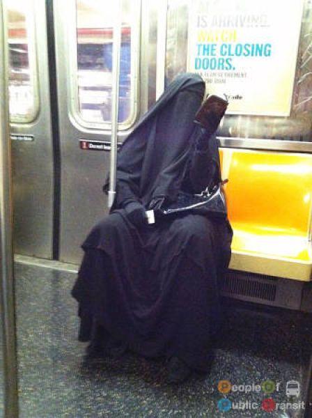 Странные пассажиры общественного транспорта