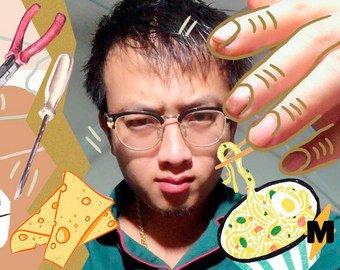 Мастер из Китая ремонтирует вещи с помощью еды