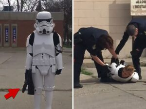 Полиция Канады задержала девушку в костюме штурмовика