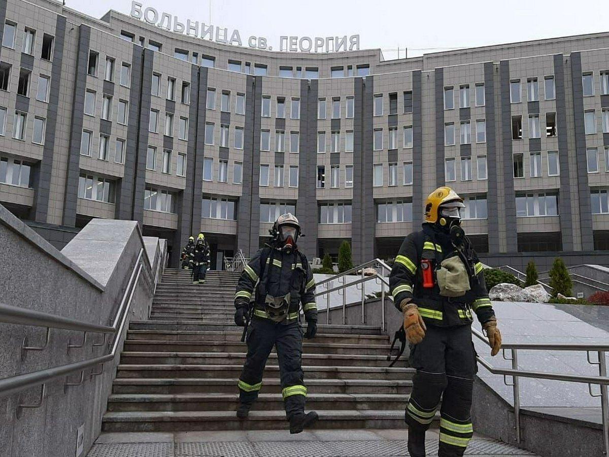 Пожар в больнице в Санкт-Петербурге