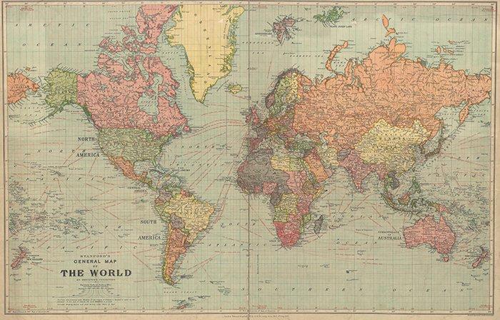 Карта мира 1922 года