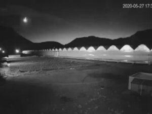 Падение метеорита в Армении попало на видео