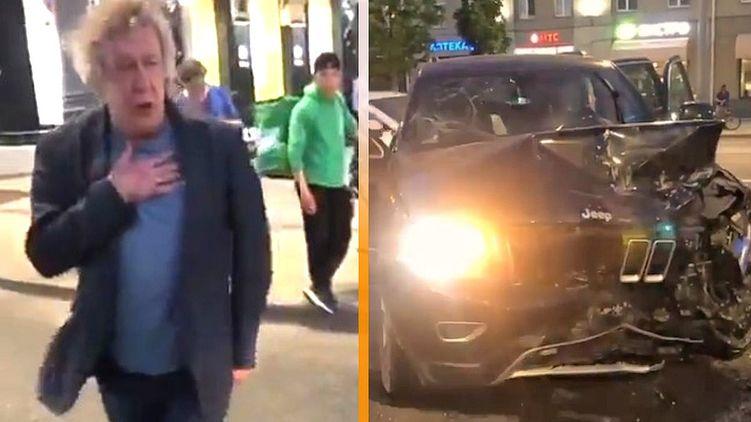 Михаил Ефремов попал в аварию в Москве